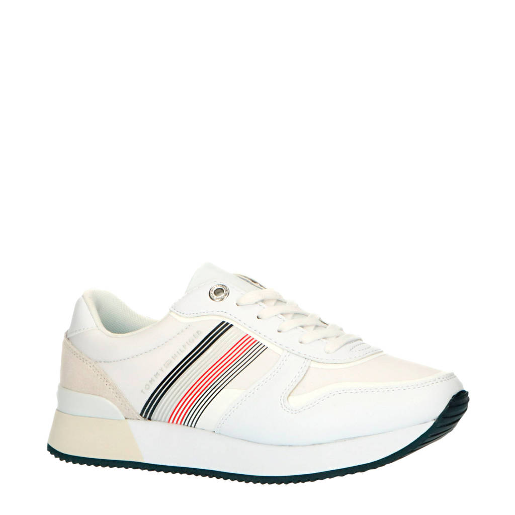 Tommy Hilfiger Active City  sneakers wit, Wit/rood/blauw