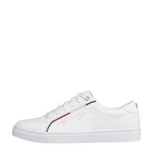 Signature  leren sneakers wit