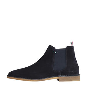 Dress Casual  suède chelsea boots donkerblauw