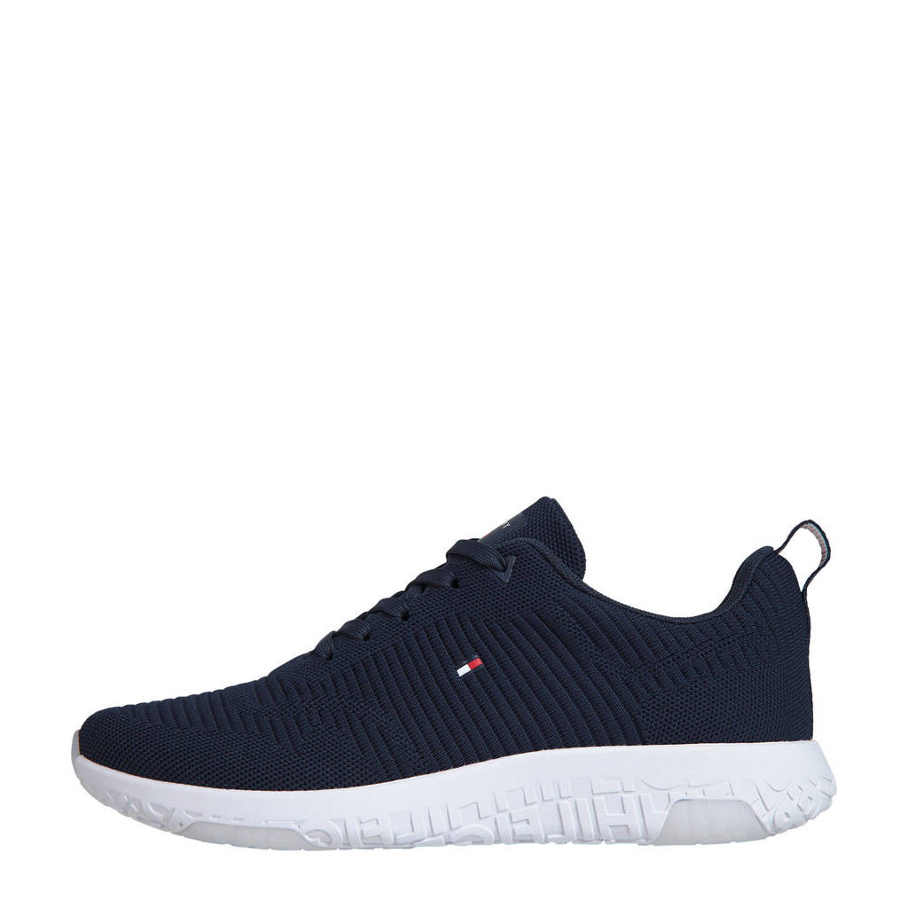 Tommy Hilfiger Corporate Knit Rib Runner  sneakers donkerblauw, Donkerblauw