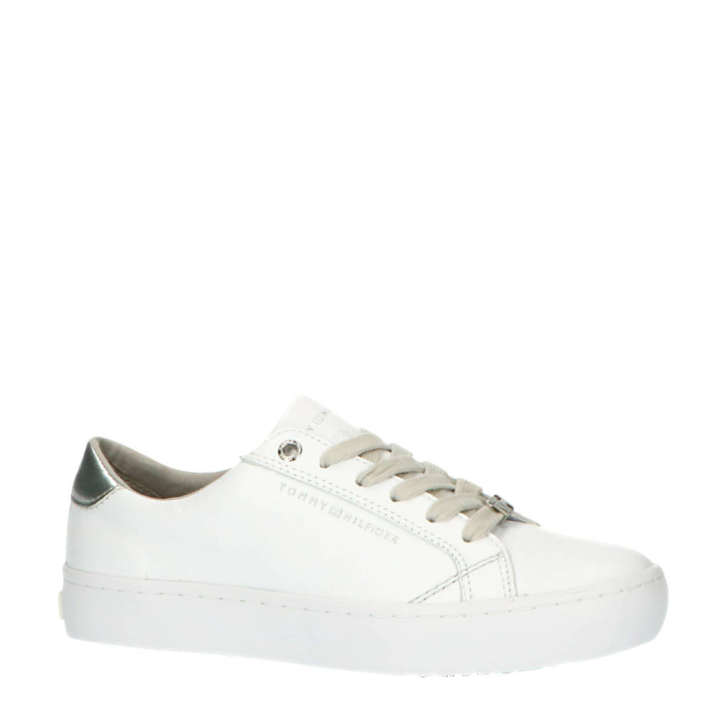 Tommy Hilfiger Casual TH  sneakers wit/zilver, Wit/zilver