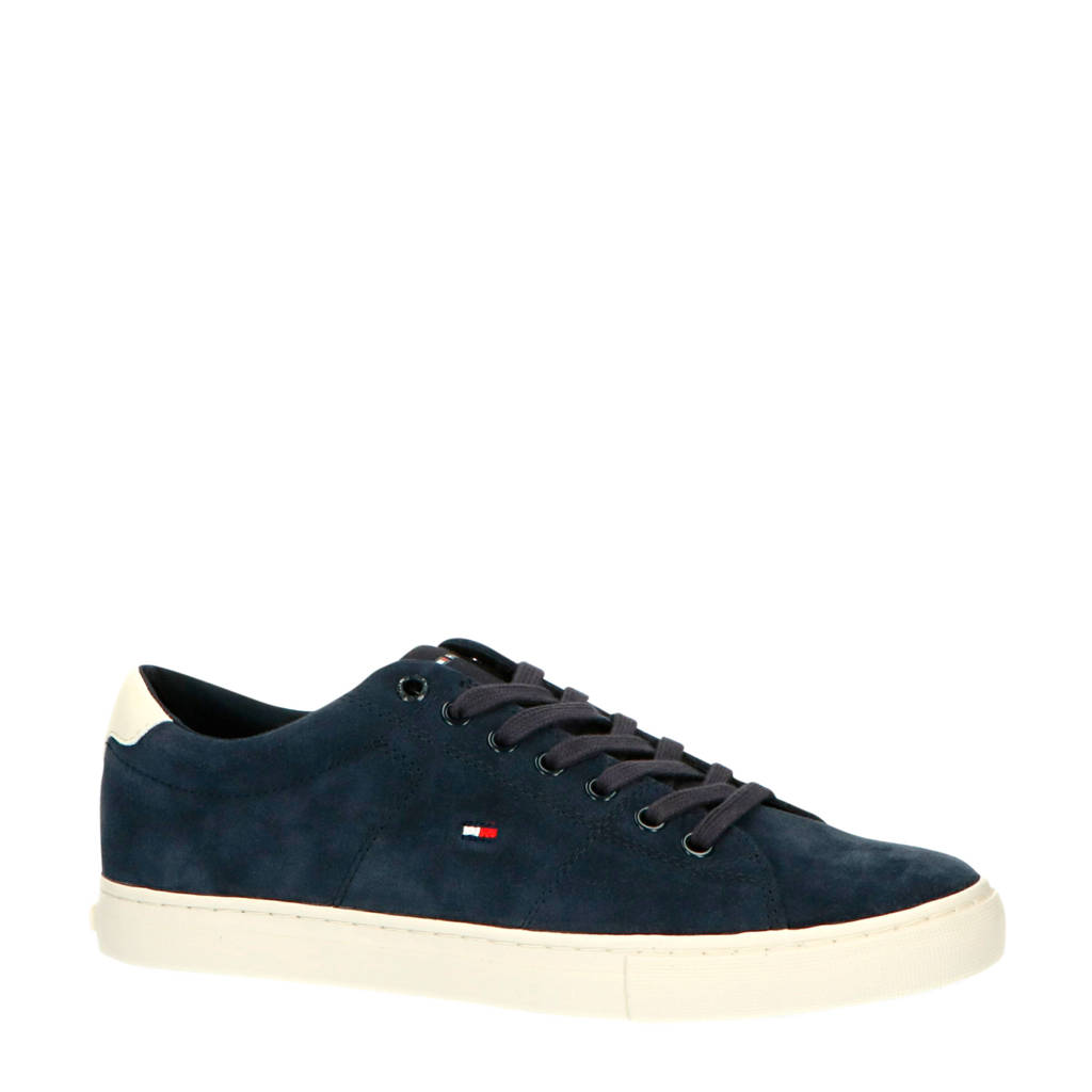 Tommy Hilfiger Seasonal Suede Vulc  sneakers donkerblauw, Donkerblauw/wit