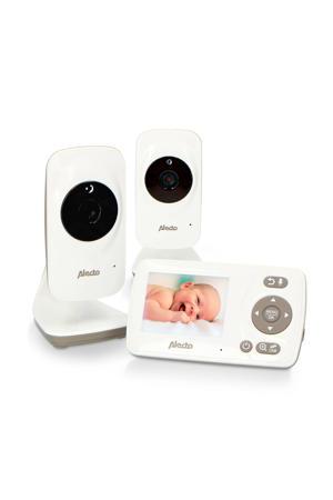 """DVM-71+DVM-71C babyfoon met 2 camera's en 2.4"""" kleurenscherm, wit/taupe"""