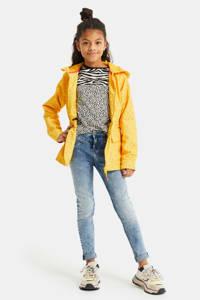WE Fashion  zomerjas met panterprint geel, Geel
