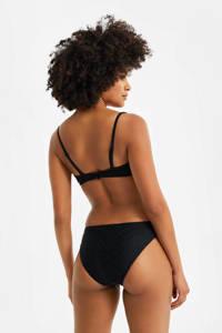 WE Fashion strapless bandeau bikinitop zwart, Zwart