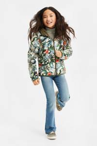 WE Fashion reversible jas groen/wit, Groen/wit/blauw/oranje