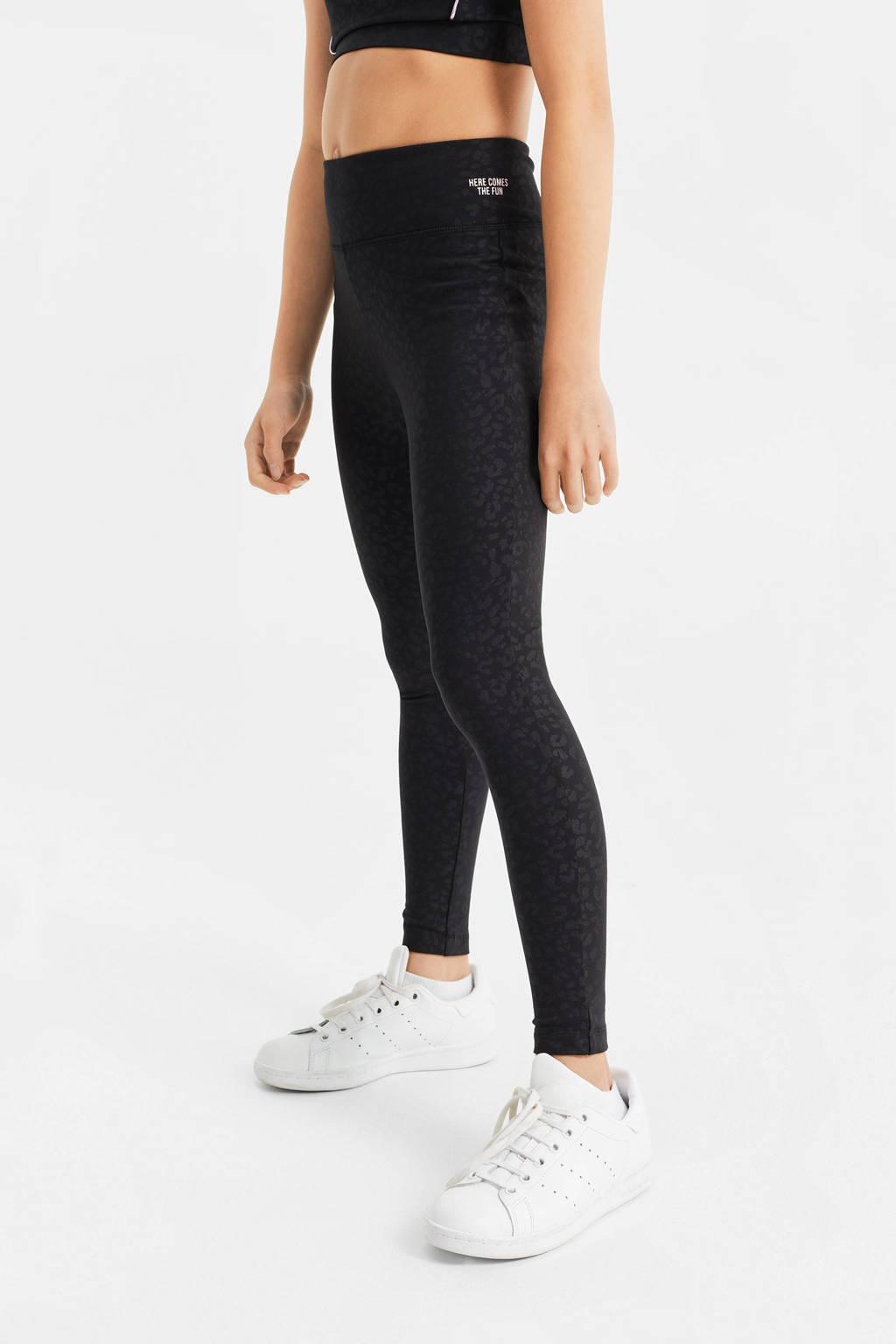 WE Fashion sportbroek zwart, Zwart