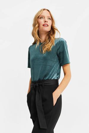 fluwelen T-shirt dark green