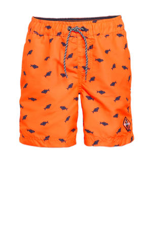 zwemshort met all over print oranje