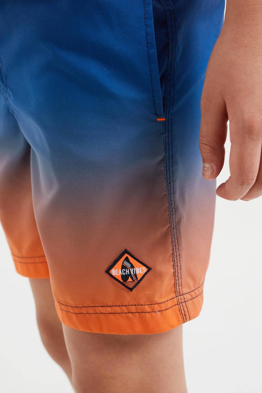 WE Fashion zwemshort multi color, Blauw/oranje