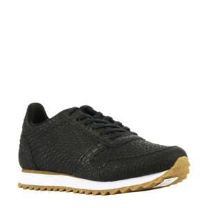 Ydun Croco II  leren sneakers crocoprint zwart