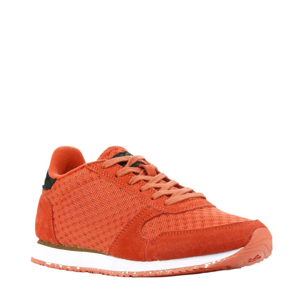 Woden Ydun Sue Mesh II  suède sneakers oranje, Oranje