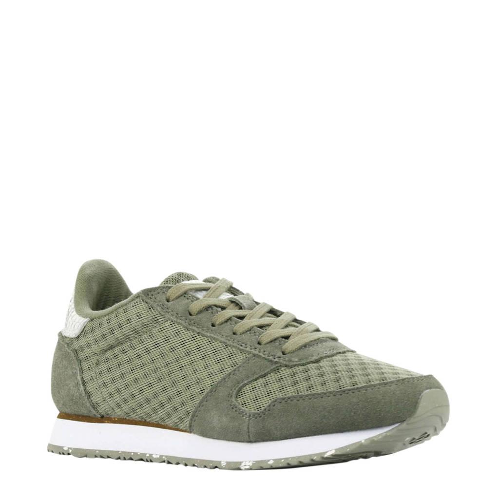 Woden Ydun Sue Mesh II  suède sneakers groen, Groen