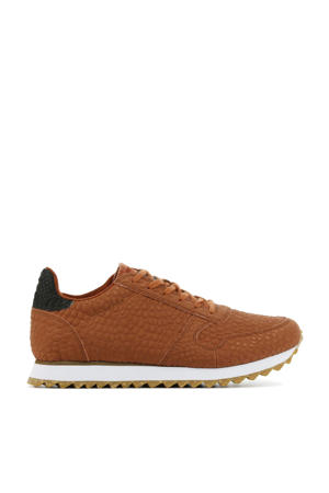 Ydun Croco II  leren sneakers crocoprint brique