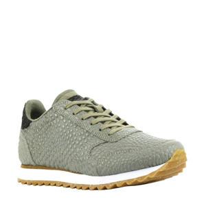 Ydun Croco II  leren sneakers crocoprint groen