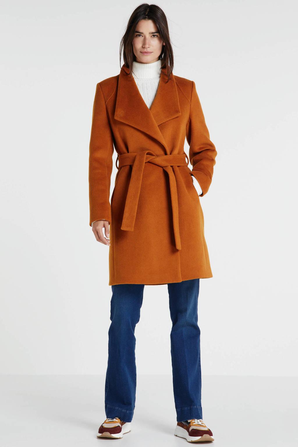 Giacomo coat met wol marigold, Marigold