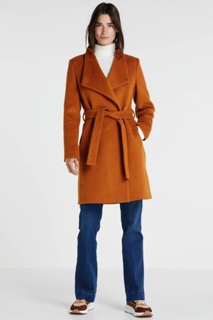 coat met wol marigold