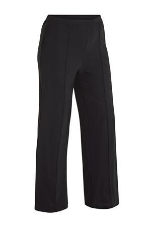 loose fit broek in travelstof zwart