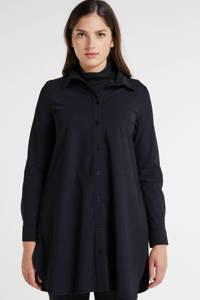 Plus Basics blouse van travelstof met glitters zwart, Zwart