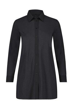 blouse met glitters zwart