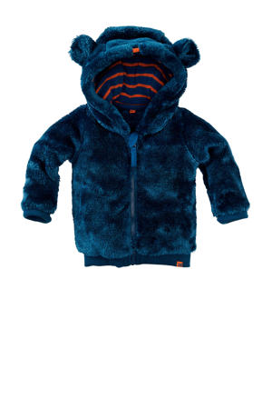 teddy jas Dallas donkerblauw/donker oranje
