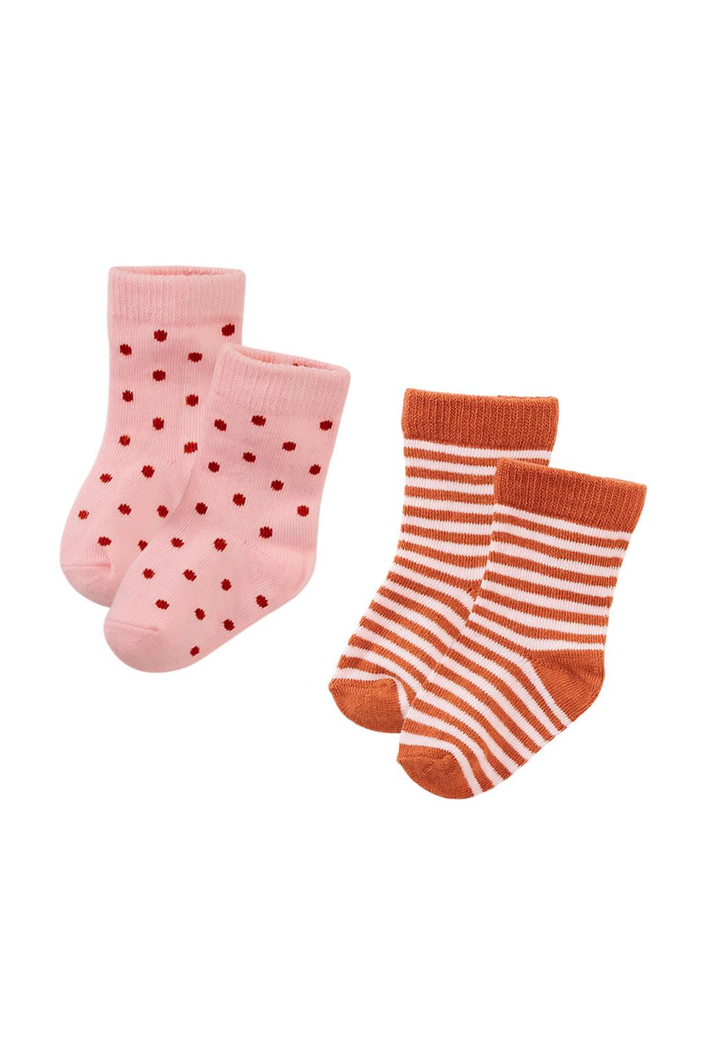 Z8 sokken Tucson - set van 2 roze, Lichtroze/roestbruin