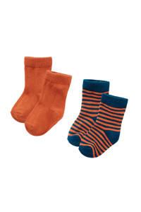 Z8 sokken Tucson - set van 2 paar bruin, Roestbruin/donkerblauw