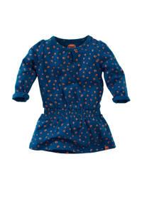 Z8 jersey jurk Riverside met all over print donkerblauw/donker oranje, Donkerblauw/donker oranje