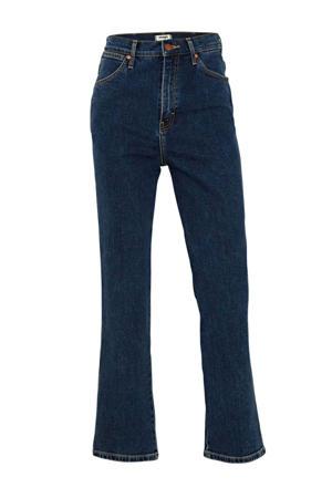 high waist straight fit jeans dark denim