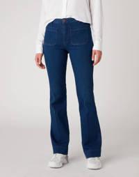 Wrangler high waist flared jeans deep water, Deep Water