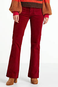 Wrangler flared jeans rood, Rumba Red