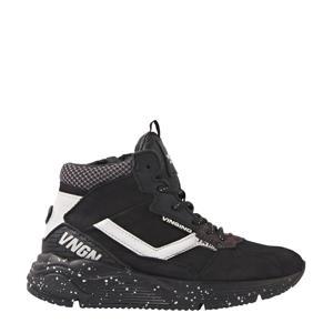 Celso Mid  hoge leren sneakers zwart/wit