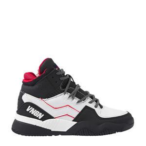 Raoul Mid  hoge leren sneakers zwart/wit