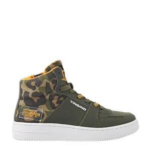 Ovan Mid  hoge leren sneakers groen