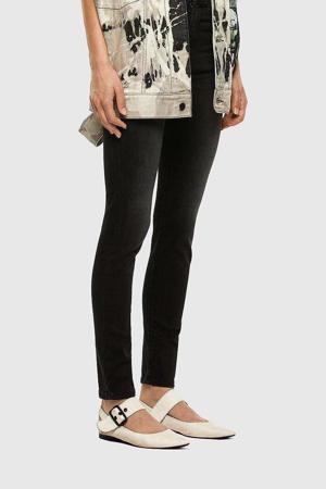 high waist skinny jeans D-Roisin-High 02 donker grijs
