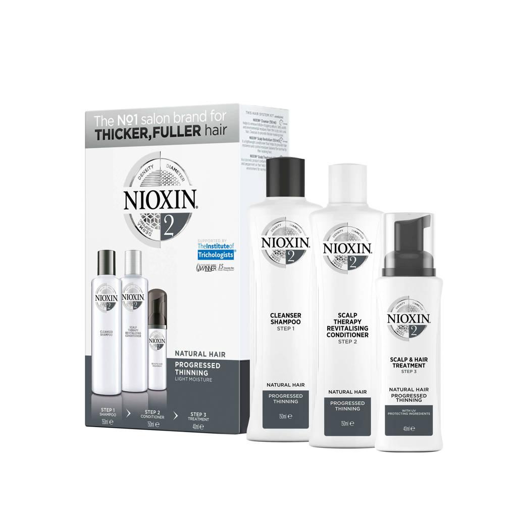 Nioxin Systeem 2 3-delige trial kit - 150 ml +150 ml +50 ml