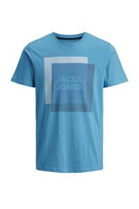 JACK & JONES CORE T-shirt met printopdruk blauw, Blauw
