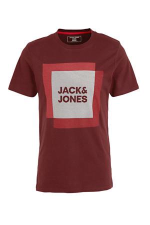 T-shirt met printopdruk donkerrood/rood