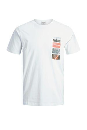T-shirt met printopdruk wit