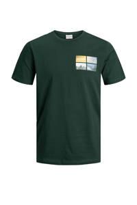 JACK & JONES CORE T-shirt met printopdruk donkergroen, Donkergroen