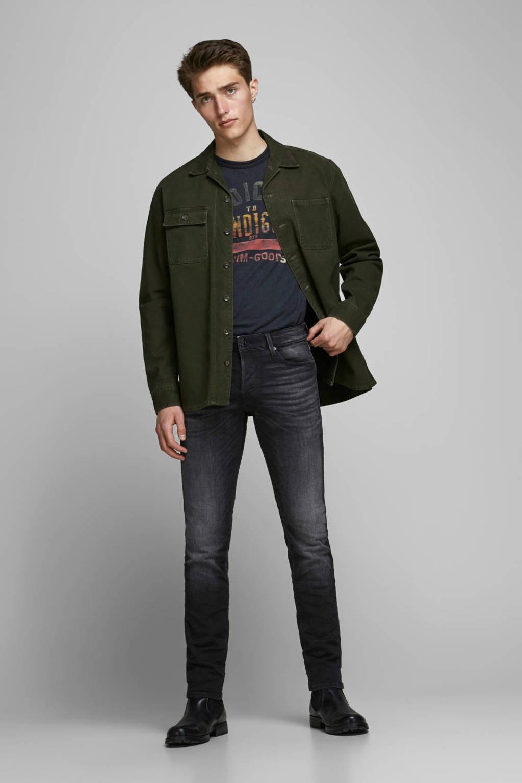 JACK & JONES JEANS INTELLIGENCE slim fit jeans Glenn zwart, Zwart