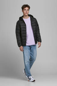 JACK & JONES ESSENTIALS winterjas zwart, Zwart
