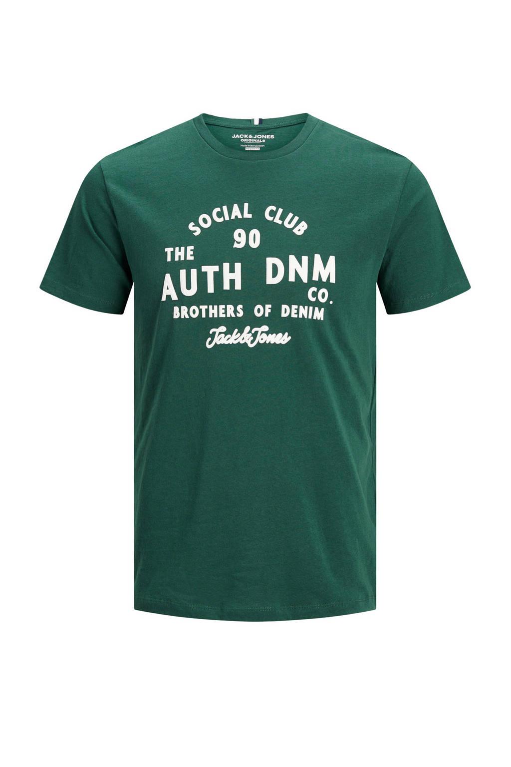 JACK & JONES PLUS SIZE T-shirt met tekst groen, Groen