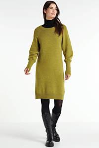 Circle of Trust gebreide jurk Eden met wol olijfgroen, Olijfgroen