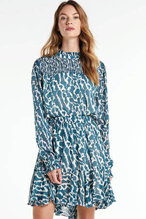 rok Masha met all over print blauw/wit