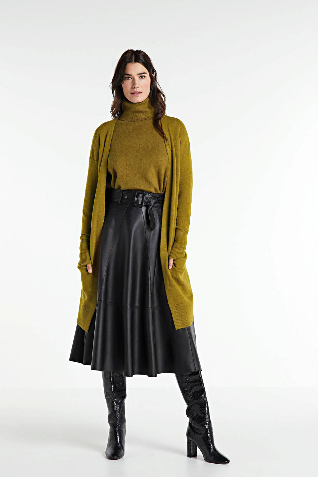 Circle of Trust vest Julia met wol groen, Groen