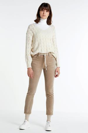 corduroy tapered fit broek Amber bruin