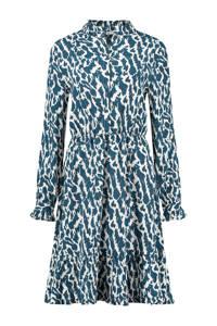 Circle of Trust halter jurk Lana met all over print blauw, Blauw