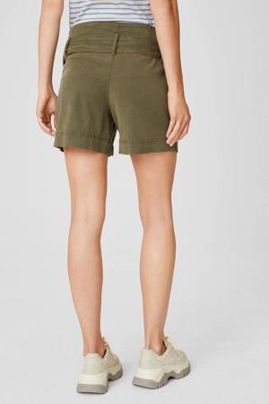 low waist regular fit short olijfgroen