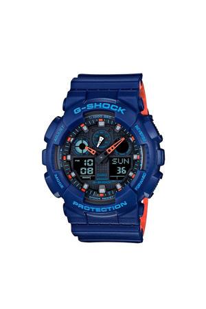 Layered Color Horloge GA-100L-2AER blauw
